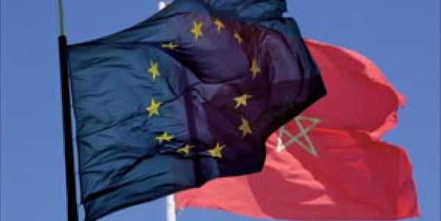 Drapeau-UE-et-Maroc